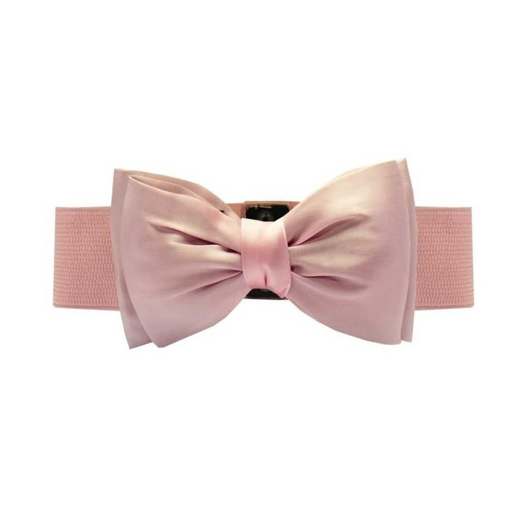Collectif. Bella Bow riem is een prachtige elastische tailleband, die beschikt over een grote satijnen strik. Draag deze riem met elke outfit voor de perfecte zandloper figuur en een tijdloos retro gevoel! Riem past maat XS - XXL.