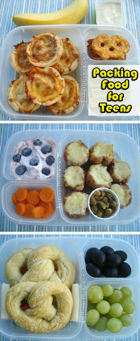 Tips for Packing Food for Hungry Teens - Here are tips for packing food for hungry teens on the go. Healthy after school snack ideas are included too. These have been tested and approved by teens.