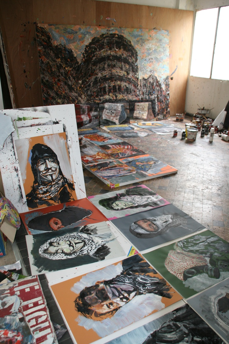 An insider's view into the studio of Lebanese artists Ayman Baalbaki and Tagreed Darghouth.