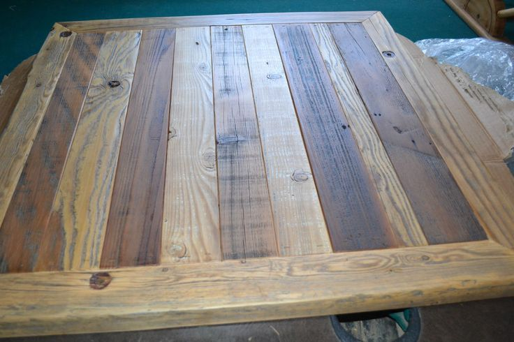 Reclaimed BARN WOOD Table Top 30X30 Urban Rustic Shabby Chic Biggest Seller