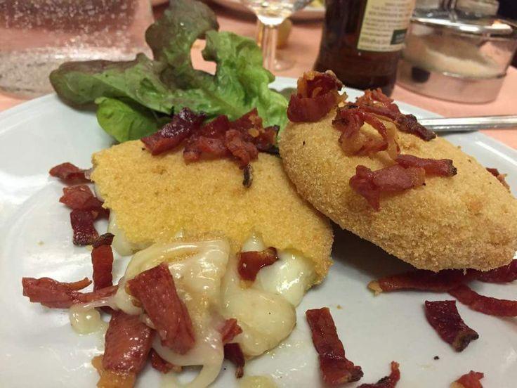 #tomino #impanato con #speck #cheese #crispycheese