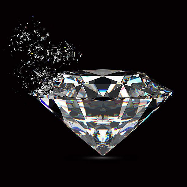 3d Rendered Sparkling Diamond Refraction On Black Background Diamond Wallpaper Diamond Wallpaper Iphone Diamond Drawing