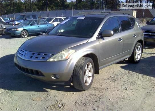 2003 NISSAN MURANO VIN JN8AZ08W73W209017 SUV Collection