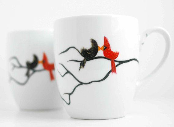 Personalized Valentine Love Birds Coffee by MaryElizabethArts, $40.00 - I LOVE these mugs!!