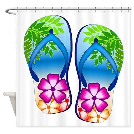 Flip Flops Shower Curtain  Flip Flop Shower Curtain