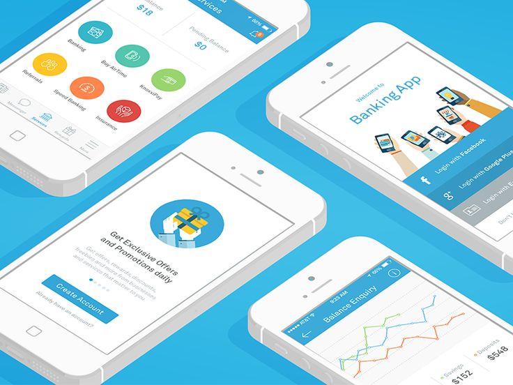 iOS Social Banking App by Helder Leal