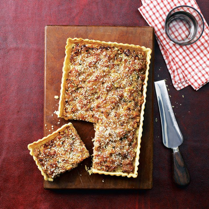 This impressive tart with succulent sausages is a great recipe to freeze, then finish cooking for a quick midweek meal.