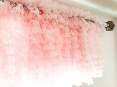 Hey, I found this really awesome Etsy listing at https://www.etsy.com/listing/242897167/ruffle-tulle-curtain-valance-pink-13