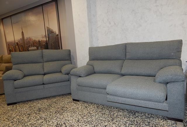 Conjunto 3+2 de sofás deslizantes y reclinables, varias telas a elegir. Muy cómodos.