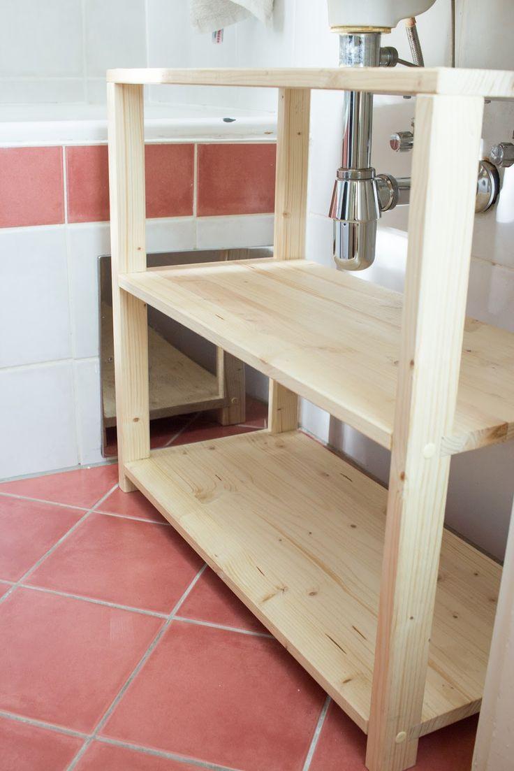 DIY Waschbeckenregal Für Das Badezimmer Bauen
