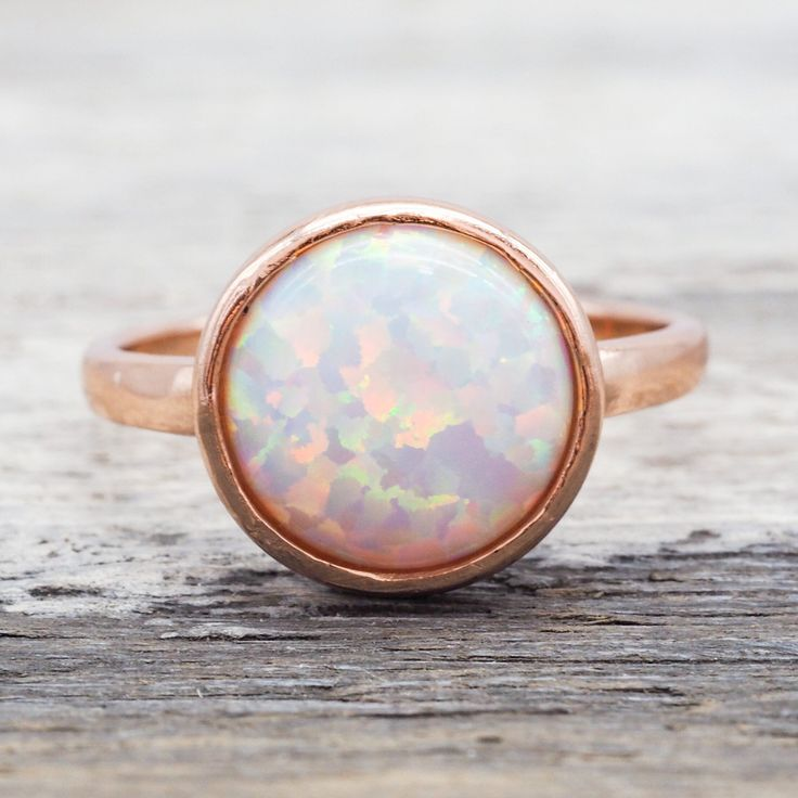 Rose Gold and Opal Ring. Available in our 'Mermaid' Collection www.indieandharper.com