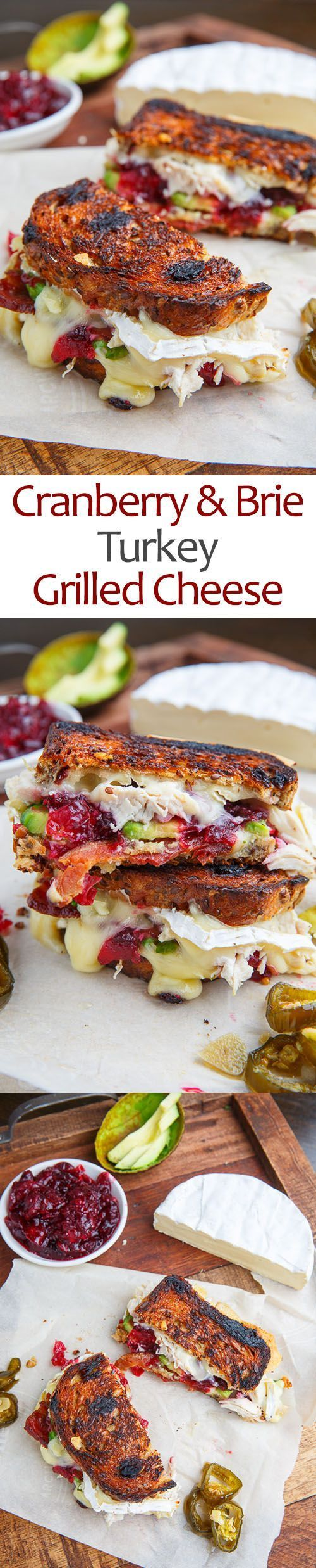 Cranberry and Brie Turkey Grilled Cheese