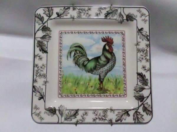 Prato quadrado em cer mica vitrificada porcelana italiana for Porcelana italiana
