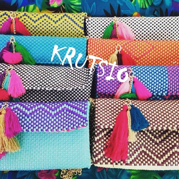 hand made made in mexico , art artesanía mexicana colores vivos clutch bolsas artesanales