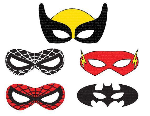 Molde antifaz superhéroes   molde   Pinterest   Superheroes ...