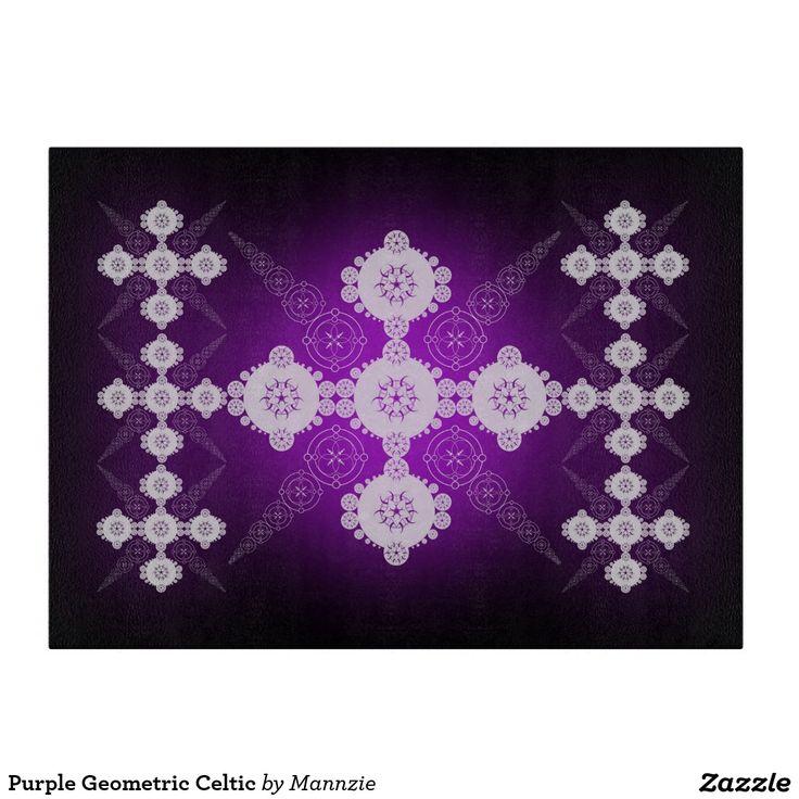 Purple Geometric Celtic Cutting Board