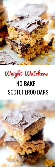 Weight Watchers No Bake Scotcheroo Bars - Recipe Diaries