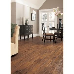 Hampton Bay Hand Scraped Oak Burnt Caramel 8 mm Thick x 5-1/2 in. Wide x 47-7/8 in. Length Laminate Flooring (14.63 sq.ft./case)-HL98 at The Home Depot
