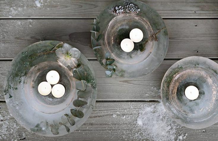 DIY Ice lanterns