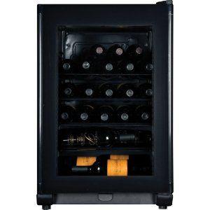 Haier Wine Cooler. 24 BOTTLE WINE CELLAR SINGLE ZONE ELECTRONIC THERMOSTAT REFR. 24 Bottle(s) - 1 Zone(s)