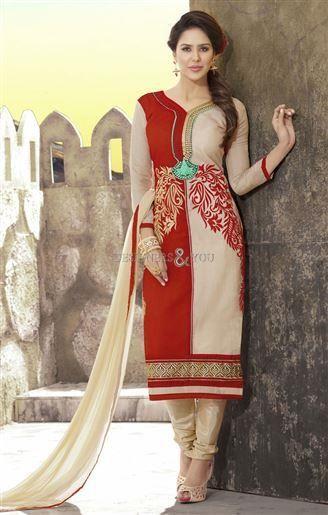 latest pakistani dresses straight cut salwar kameez designs for ladies | DesignersAndYou