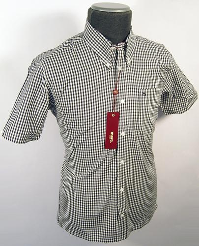 MERC LONDON RETRO SIXTIES MOD SHIRT MENS CLOTHING