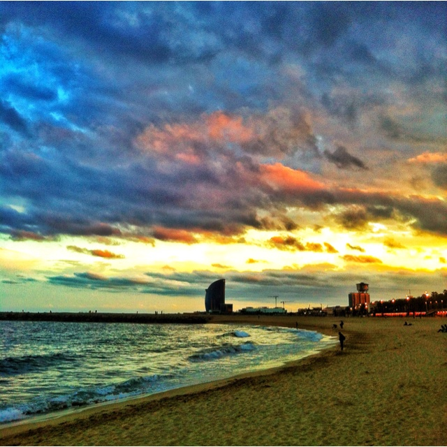 Barceloneta's sunset