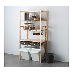 IKEA - IVAR, 1 section unit w/shelves & drawers, Untreated solid pine is a durable natural material that can be painted, oiled or stained according to preference.You can move shelves and adapt spacing to suit your needs.