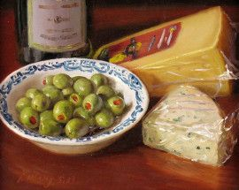 Green Olives and Cheese- Y.Q. Wang
