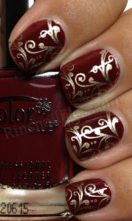 Rin's Nail Files: Color Club Rid-ical Gypsy with stamping