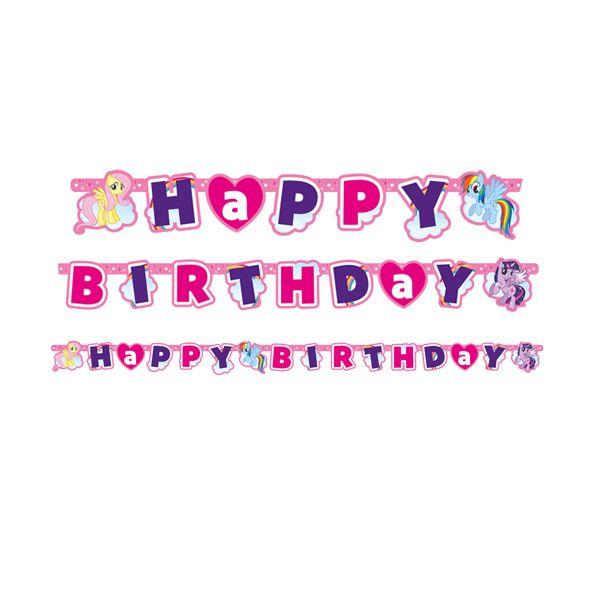 Doğum Günü My Little Pony Rainbow Temalı Harf Afiş  Paket içerisinde Doğum günü partileriniz için birinci kalite, 1 adet 160 x 13 cm harf afiş bulunmaktadır.
