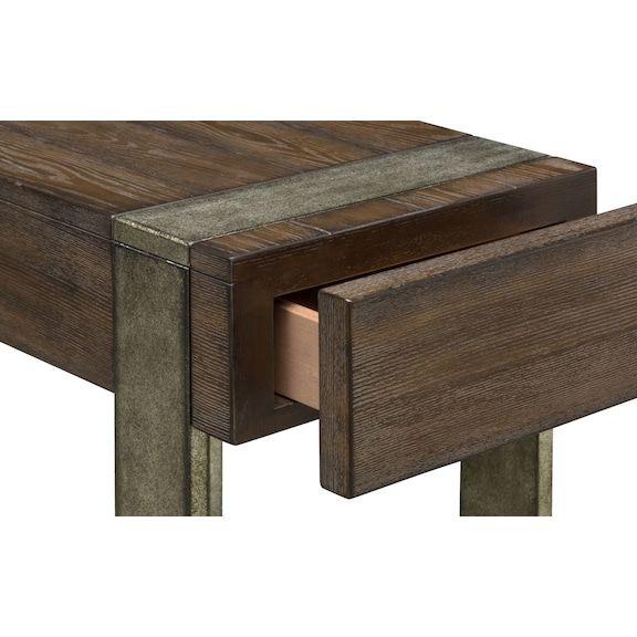 Union City Chairside Table Bark, Union City Furniture