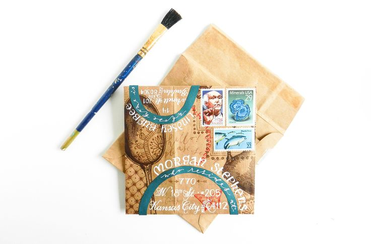 This DIY envelope glue is simple, utilizes normal kitchen ingredients, and will take your handmade envelopes to the next level!