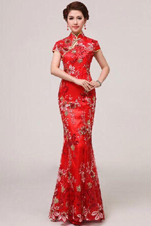 Great I um so jealous these Qipao Cheongsam Wedding Dresses are SO gorgeous