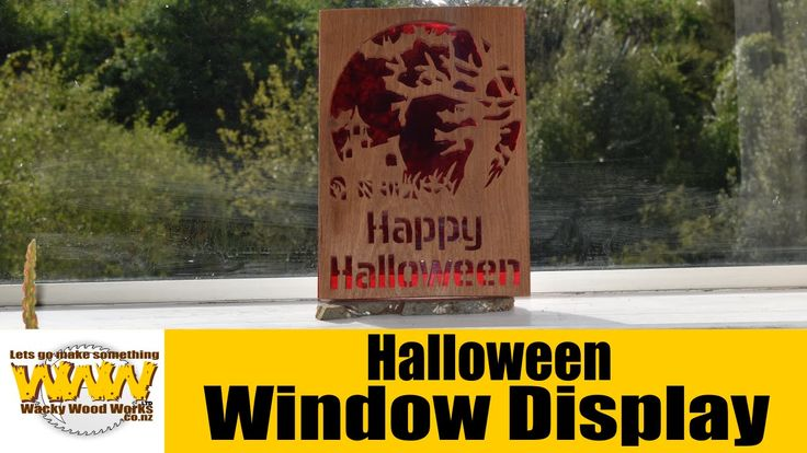 Simply Wooden Creations Scroll Saw Artist Contest 2015 - Halloween Windo...