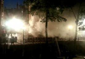 7-Jun-2013 5:40 - BRAND AAN OUDEGRACHT UTRECHT. In het centrum van Utrecht heeft rond 05.00 uur korte tijd brand gewoed in een werfkelder. Een aantal woningen is ontruimd, meldt de brandweer. . Negen mensen die in het pand aanwezig waren, worden behandeld omdat ze rook hebben ingeademd. Het vuur begon in de werfkelder die gebruikt wordt als opslagruimte. De ruimte ligt aan de Oudegracht.