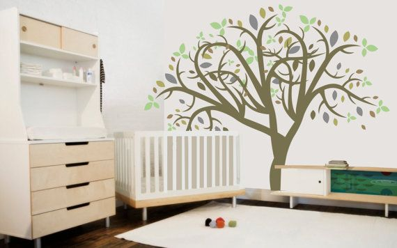 Wall decor tree, wall tree decal, wall tree art, made in Canada wall decals on Etsy, $120.00 CAD