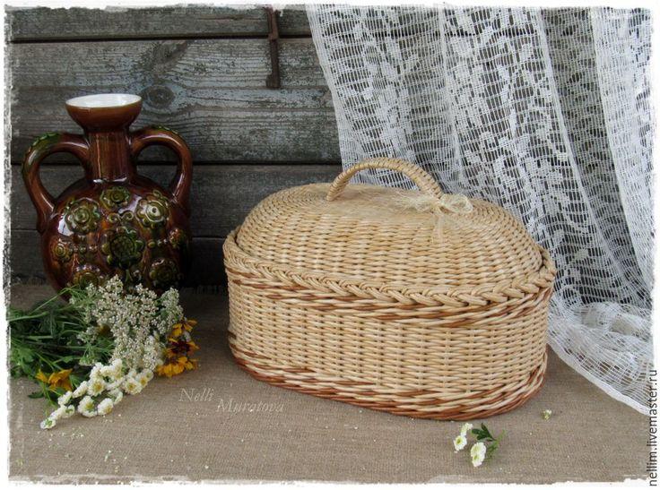 """Купить """"Деревенское лето"""" Плетеная хлебница - хлебница плетеная, Из бумаги, для кухни, для дома и интерьера"""