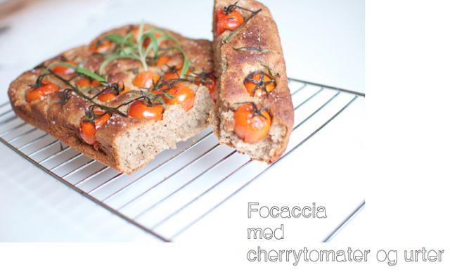 Focaccia med cherrytomater og urter (glutenfri)