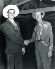 Hank Thompson and Hank Williams, early 1950′s