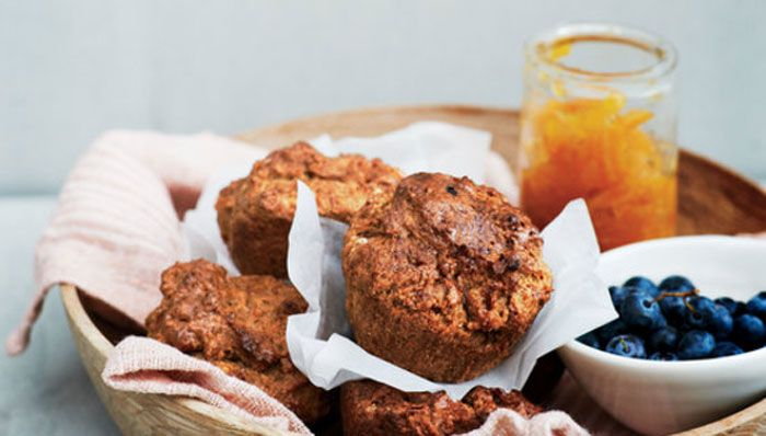 A delicious and healthy sugar free sweet potato and five spice muffin recipe from It's All Good by Gwyneth Paltrow.