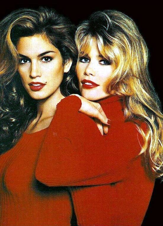 Estetica UK, February/March 1995 - Cindy Crawford and Claudia Schiffer