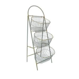 Home Decorators Collection Whitney 3-Tier 45.5 in. H Light Grey Storage Basket 1760700270 at The Home Depot - Mobile