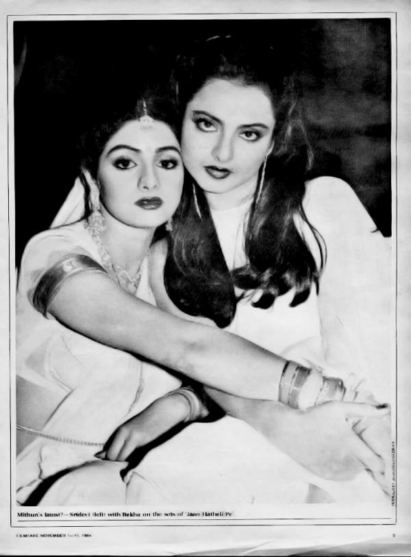 Rekha and Sridevi - beautiful south indian divas. I love this picture!