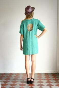 R/H SS13 Collection - Summer Moon Knit Dress in Emerald Green