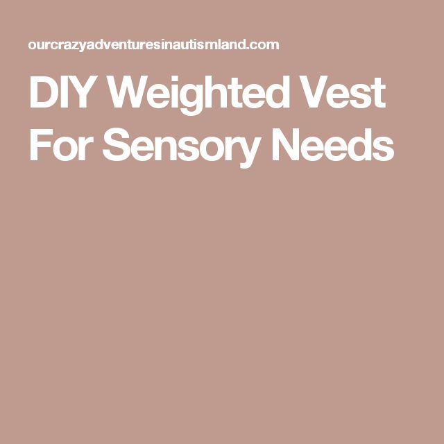 DIY Weighted Vest For Sensory Needs