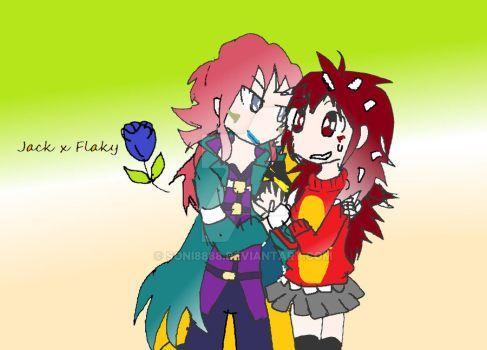 (beyblade)Jack x Flaky(HTF)