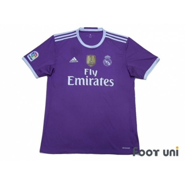 Photo1: Real Madrid 2016-2017 Away Shirt LFP Patch/Badge FIFA World Club Cup Champions 2016 Patch/Badge adidas - Football Shirts,Soccer Jerseys,Vintage Classic Retro - Online Store From Footuni Japan