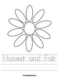 Daisy Girl Scout worksheet, can make one for each petal for the daisies!