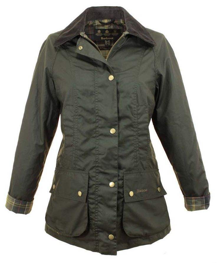 Women Barbour Flyweight Tartan Beadnell Waxed Jacket Olive Birmingham Sale